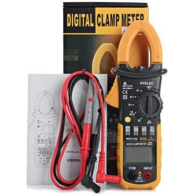 HaiMa Hyelec Ms2108 Multímetro Digital Multifuncional Voltímetro/Amperímetro/Ohmiómetro/C Metro-Amarillo Y Negro