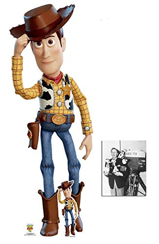 Woody Tipping Cowboy Hat Official Toy Story 4 Cardboard Cutout/Standup Fan Pack, 162cm x 63cm Includes Free Mini Cutout and 8x10 Photo