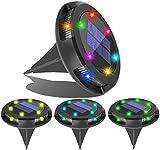 Confezione da 4 luci solari a LED per esterni e giardino, illuminazione a vetri, impermeabile, per esterni, per prati, terrazze, vialetti, cortili, scrivanie, vialetti, luci (4 pezzi, cambio colore)