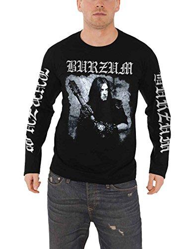 Burzum T Shirt Anthology 2018 Band Logo Nue offiziell Herren Schwarz Long Sleeve