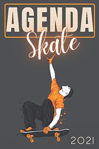 Agenda 2021 Skate: agenda 2021 semana vista - planificador semanal y mensual 2021 A5 - de enero a diciembre 21 - una Semana en dos Páginas - agenda ... - regalo skateboard para skater hombre mujer