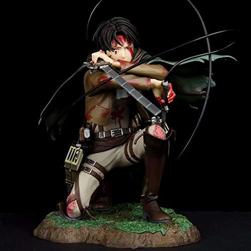 STKCST Ataque contra la Guerra de Titán Capitán dañado Lewell Capitán Anime Figure Versión Estatua Muñeca Escultura Decoración de Juguetes Modelo de Altura 18 cm