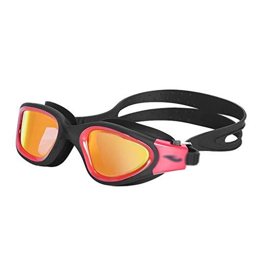 Eres el mejor Gafas de natación HD Impermeable y antivaho Ligero Gafas de natación de luz Plana Gafas Profesionales para Adultos Borde Grande Gafas para Deportes acuáticos