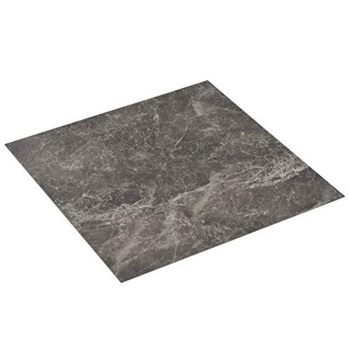 vidaXL PVC Laminat Dielen Selbstklebend Rutschfest Wasserfest Vinylboden Bodenbelag Designboden Vinyl Boden Dielen Planken 5,11m² Schwarzer Marmor