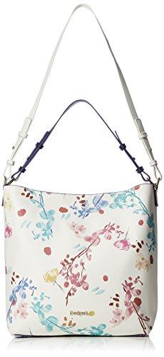 Desigual Bols Shopper Tasche 29 cm, Weiß