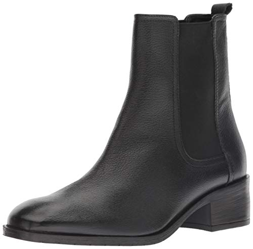 Kenneth Cole REACTION Women's Salt Chelsea Boot Ankle, Black Leather, 8.5 M US