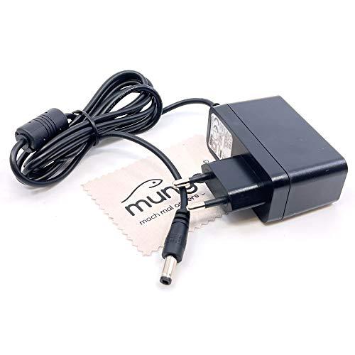 Ladegerät passend für AVM Fritz!Box 7170, 7272, 7330 SL, 7362 SL, 7412, 7430, 7520, 7530, 7570 Ladekabel Kabel Fritzbox Netzladegerät OTB mit mungoo Displayputztuch