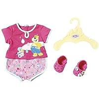 Baby Born Bath Pyjamas & Clogs 43cm Pijamas y Zuecos (43 cm), Color Rosa. (Zapf Creation 827437)