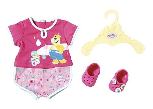 Zapf Creation 827437Baby Born Bath Pyjamas & Zuecos 43cm, Color Rosa