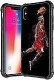 Funda para iPhone Xs Max, diseño de jugador de baloncesto 38, de vidrio templado para iPhone Xs Max, funda de TPU suave antiarañazos, a prueba de golpes, compatible con iPhone Xs Max