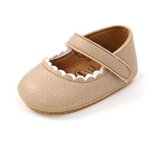 MK MATT KEELY Zapatos Bebé Niña Primeros Pasos Zapatos Princesa Antideslizantes Bailarinas Suela Blanda 6-12 Meses