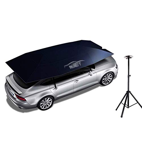 LLSS Semi-Automatic Folded Car Tent,Movable Carport Portable Car Protection Canopy Sun Shade Anti-UV, Water-Proof, Proof Wind Snow