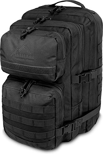 normani US Assault Pack large Rucksack ca. 50 Liter (Schwarz, 50 Liter)