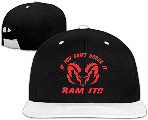 Xunulyn Adjustable Outdr Sport Baseball Hat If You Can`t Dodge It,RAM It Travel Sunscreen Sun