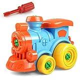 L-DiscountStore Rompecabezas de los niños y desmontar los juguetes tomar-aparte y montar el tren y herramientas de coches de dibujos animados, avión