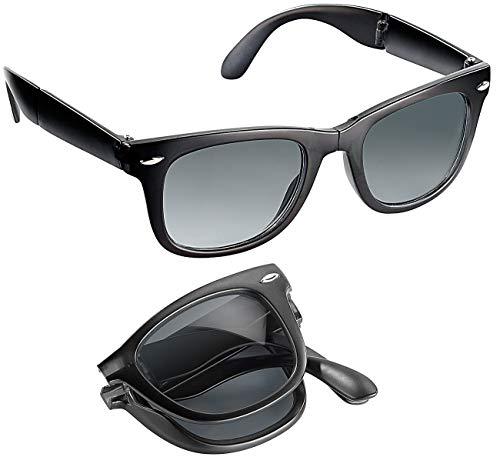 PEARL Klappsonnenbrillen: Faltbare Sonnenbrille (zusammenklappbare Sonnenbrille)