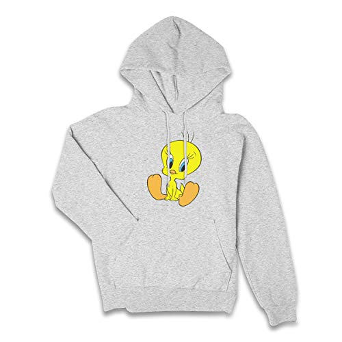 Women's Tweety Bird Winter Pocket Hoodies Gray