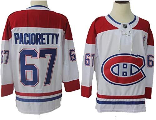 DangLeKJ Max Pacioretty # 67 Montreal Canadiens Eishockey Trikots NHL Männer Sweatshirts atmungsaktiv T-Shirt, Größe: XL, Farbe: Weiß (Color : Red-White, Size : XXL)