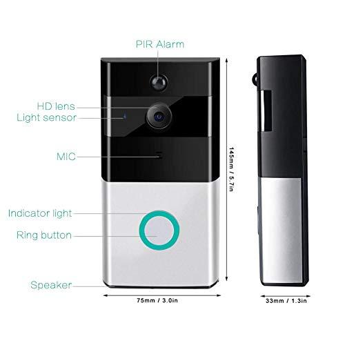 Kabellose Türklingel WiFi Smart Video Türklingel Smart Security Kamera Türklingel mit Echtzeit-Push-Benachrichtigungen Watchdog Überwachungssystem Nachtsicht für iOS Android Google