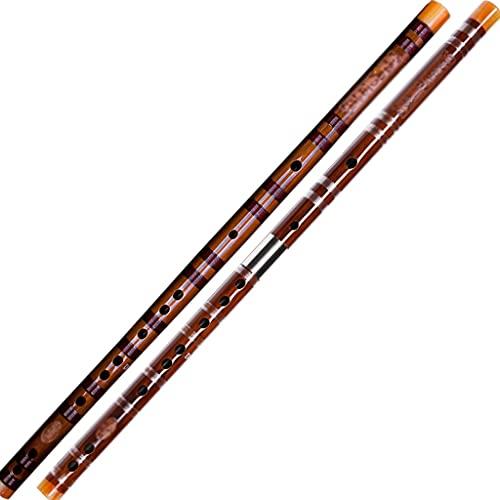 Grabadora De Soprano, Flauta De Bambú Amarga Refinada De Alto Grado, Instrumento De Pífano para Principiantes, Adultos Jóvenes Y Profesionales (Color : Two Sections, Size : E)