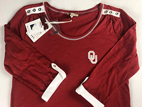 Affordable Sooners Oklahoma OU 3/4 Sleeve Shirt Womens Medium Buttons Top Alumni Grad