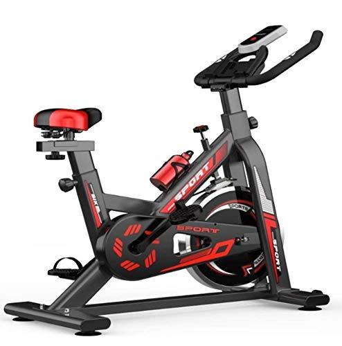 YLJYJ Elite Indoor Cycle Bike Ejercicio aeróbico Piernas/Cintura y Caderas Pantalla LCD Ajustable sin Resistencia + Botella de Agua Adecuado para Hombres y Mujeres, A