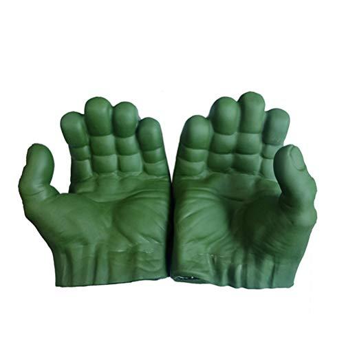 Katyma Hulk Cosplay Guantes Marvel Avengers Gamma Fists Juego de Roles Disfraz PVC Juguetes para nios Adultos Halloween Navidad