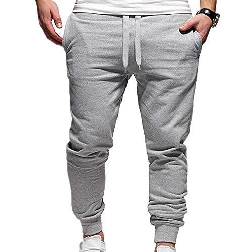 Pantalones deportivos sueltos para hombre Pantalones deportivos sólidos para correr