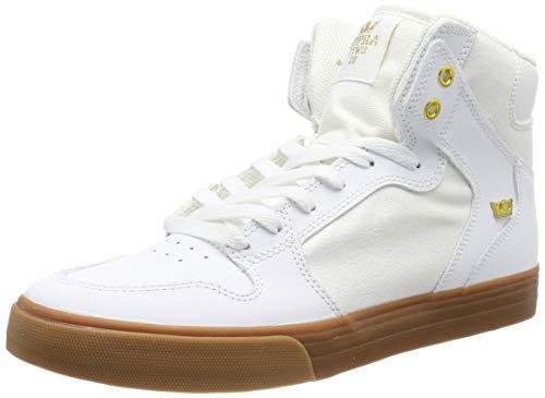 Supra Unisex-Erwachsene Vaider Hohe Sneaker, Weiß (White/Gold-Lt Gum 176), 40.5 EU