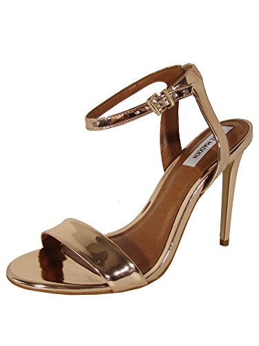 Steve Madden Womens Landen Stiletto Open Toe Sandal Shoes, Rose, US 7.5