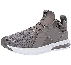PUMA Men's Enzo Mesh Sneaker, Charcoal