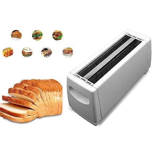 LOKKG Tostadora 4 rebanadas, tostadoras de Pan de Material plástico, tostadora Dualit, función de horneado y Calentamiento, Control de Temperatura de 6 Engranajes, Blanco