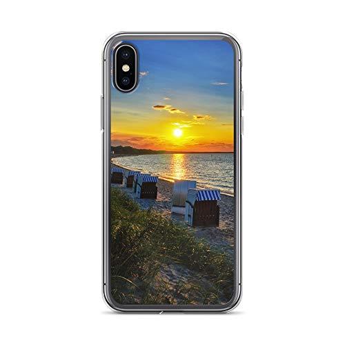 Handyhülle OSTSEE Rostock kompatibel für Huawei G8 Mini Stralsund Strand Strandkorb Schutz Hülle Case Bumper transparent rund um Schutz Cartoon M8
