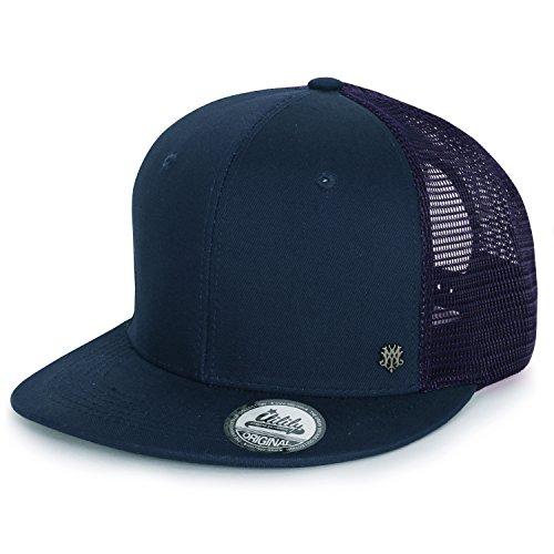 ililily Extragröße kräftige Farbe New Era Style Snapback Baseball Cap (X-Large, Dark Blue)