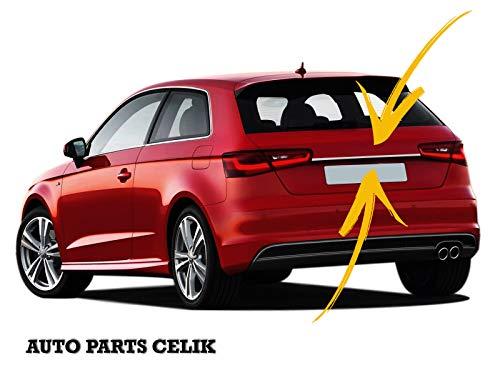 per Audi A3 Sportback HB 2012-2017 in Acciaio Inox Cromato paraurti Posteriore Modanatura Striscia di Copertura del Coperchio