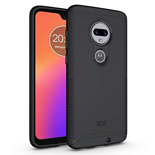 TUDIA Dual Layer Fit Kompatibel mit Motorola Moto G7 Hülle/Moto G7 Plus Hülle, [Merge] Robuste Hart Doppelte Schutzschicht Schlanke Schutzhülle für Moto G7/Moto G7 Plus (Matt-schwarz)