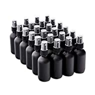 7 Colors Available - The Bottle Depot Bulk 24 Pack 2 oz Black Glass Bottles With Spray; Wholesale Quantity for Essential Oils, Serums with Pretty Frosted Finish to Protect and Preserve Quality
