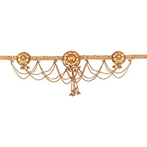 I Jewels 18K Gold Plated Traditional Bridal Waist/Belly Chain (Kamarband) for Women/Girls (B024-1)