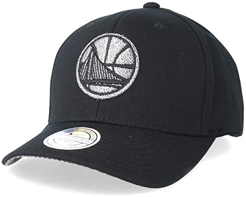 Mitchell & Ness Snapback Cap Golden State Warriors 110 Curved Melange Black