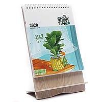1本 卓上カレンダー 頑丈 木製フレーム 立ち2020年6月から2021年9月配達6〜9労働日まで
