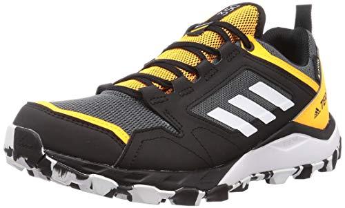 adidas Herren Terrex Agravic TR Gore-TEX Trail Running Shoe, Grey/Cloud White/Solar Gold, 45 1/3 EU