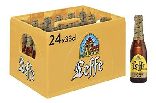 Leffe Blonde Flaschenbier, MEHRWEG (24 x 0.33 l) im Kasten, Blondes Abteibier aus Belgien