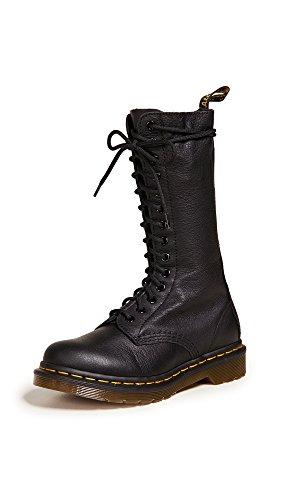 Dr. Martens 1B99 Virginia BLACK, Damen Combat Boots, Schwarz (Black), 39 EU (6 Damen UK)