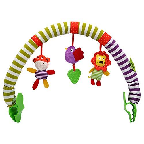muskmelon Juguete de Cochecito Espiral Bebe Cochecito Niña Actividad Barra de Colgar Arco Actividades Cochecito de Juguete para Bebe para Niños Pequeños Colgantes Regalo