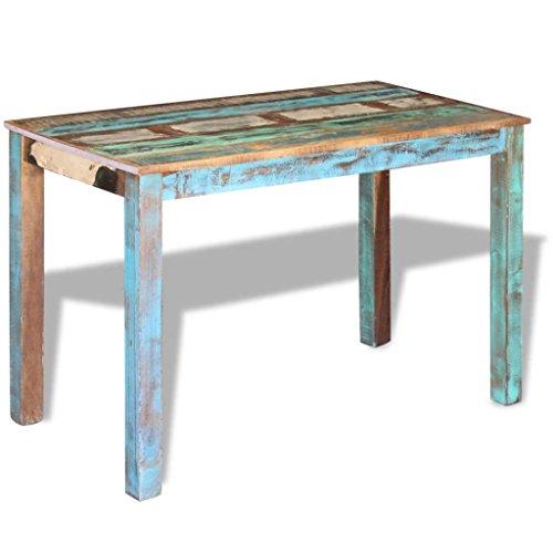 XingliEU Deze eettafel van gerecycled massief hout 115 x 60 x 76 cm. Deze tafel creëert een comfortabele eetkamer.