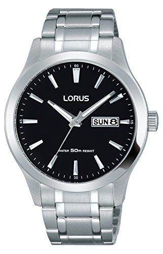 Lorus Klassik Herren-Uhr mit Palladiumauflage und Metallband RXN23DX9