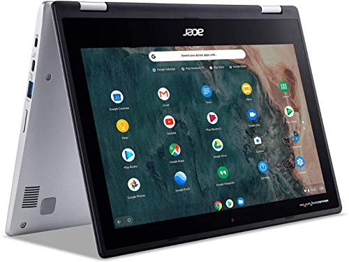 """Newest Acer Chromebook Spin 311 Convertible Laptop, 11.6"""" HD Touch, Intel Celeron N4020, UHD Graphics 600 4GB DDR4 RAM, 32GB PCIE SSD, Chrome OS (Bundle with Woov Sleeve)"""