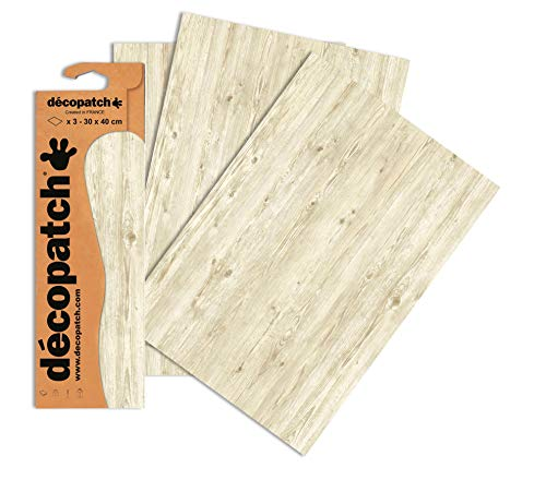 Decopatch Papier No. 673 (Holz braun Hell, 395 x 298 mm) 3er Pack