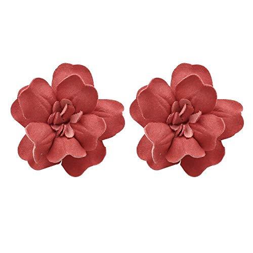 JY Novedad Joyas-Pendientes de mujer Pendientes Pendientes Pendientes de gota Oreja, Pendientes de flores exageradas hechas a mano, Pendientes de flores retro europeas y americanas