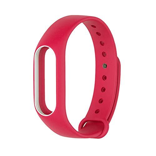 LXF JIAJU para MI Band 2 Brazalete De Reemplazo De Correa para Xiaomi Band 2 Print Silicone Universal Muñequera Colorida Banda De Relojes Impermeables (Color : Red White)
